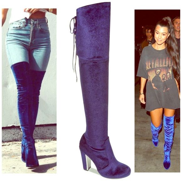 3c03febd9aa Material Girl-Priyanka Over the knee boots 👢